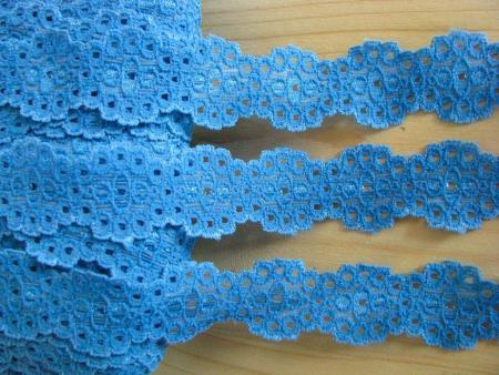 2m elastische Spitze in gobelin-blau Fb1315