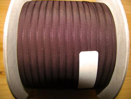 200m/1 Rolle Schleifchenband in schoko-braun Fb0175