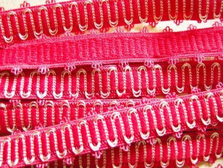 5m Schmuck-Träger-Gummi/Schulterband in beerigem rot Fb0629