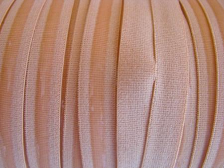 6m Velour-Gummi mit Silikonstreifen in skin Fb0075