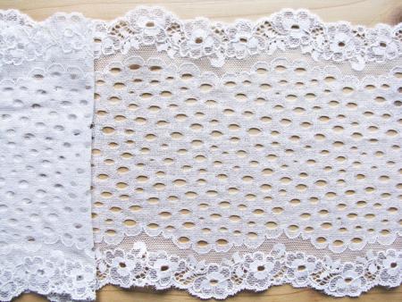 1m elastische Spitze in rein-weiß Fb4000