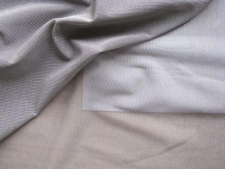 1m bi-elastischer Wäschetüll in platino/silbergrau Fb0343