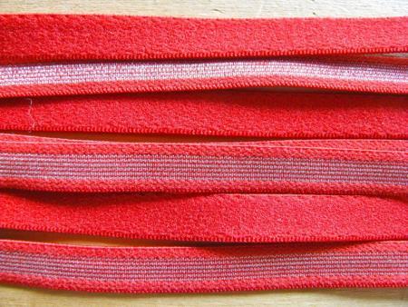 5m Träger-Gummi in hot-rot/silber Fb0503