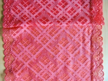1m elastische XL-Spitze in renoir-rot F1391 Richtung koralle