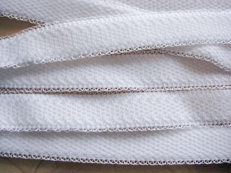 5m Träger-Gummi/Schulterband in rein-weiß Fb2000