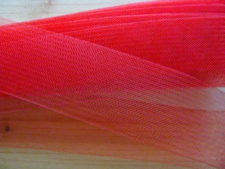 10m Crinoline - Versteifungsband in hot-rot Fb0503