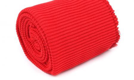 1 Set Bündchen - elastisch in renoire-rot Fb1391