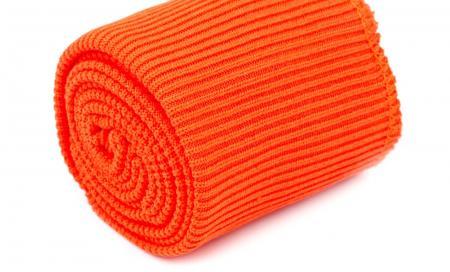 1 Set Bündchen - elastisch in grellem jaffa Fb1335