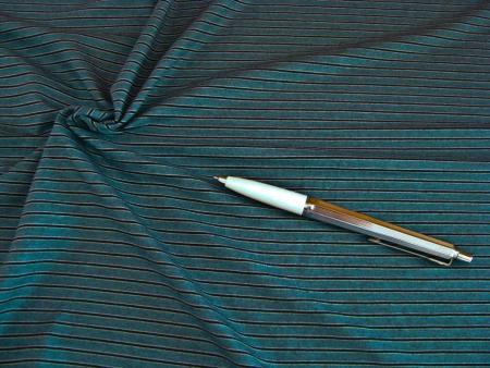 1m Bi-elastischer Fein-Jersey - Indigo Strips -