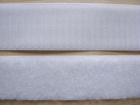 2m - Klettband in weiß 38mm