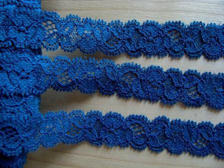 3m elastische Abschluss-Spitze in rojal-blau Fb1304