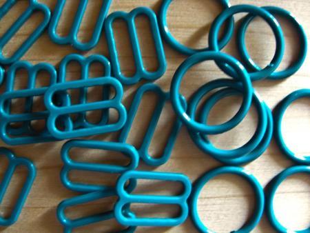 4 Schieber und 4 Ringe in petrol Fb0483 - 12mm