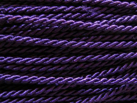 1m Atlas-Kordel in violett Fb0046 - 3mm