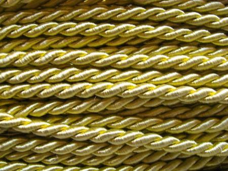 1m Atlas-Kordel in goldruten-gelb Fb0118- 6mm