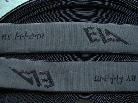 "4m Bundgummi ""Ela"" by Filam in marengo-grau Fb0416"