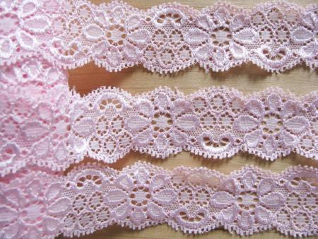 2m elastische Spitze in baby-rosa Fb1056