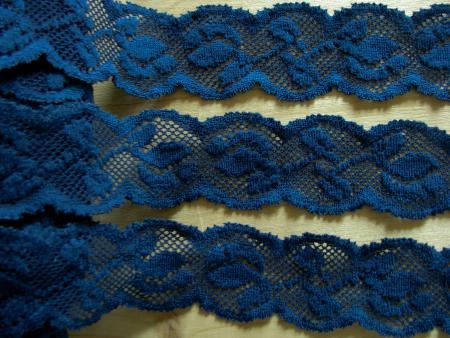 2m elastische Spitze in navy-blau Fb0805