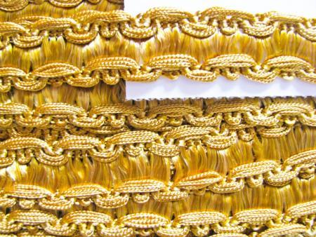 1m Web-Viskose-Borte in gold-lack Fb0118