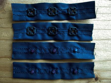 2 Paar Body-Verschlüsse in dunkel-blau Fb0016