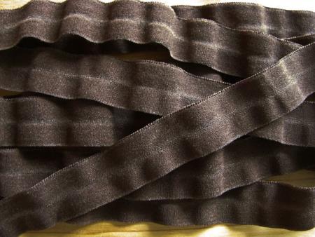 6m Falzgummi in negro-braun Fb1002 - samtig