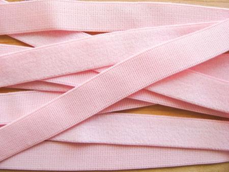5m Velour-Träger-Gummi in baby-rosa Fb1056
