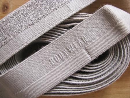 """4m Bundgummi """"Bodywear"""" in perl-grau Fb0331 - 2,8cm"""
