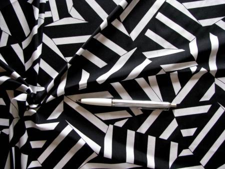 """1m bi-elastische Microfaser """"Crash"""" in schwarz/weiß"""