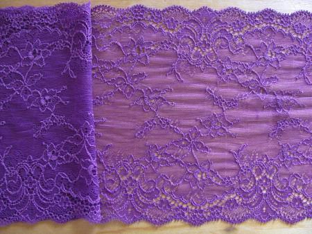 1m elastische Spitze in veilchen-lila/violett Fb0046