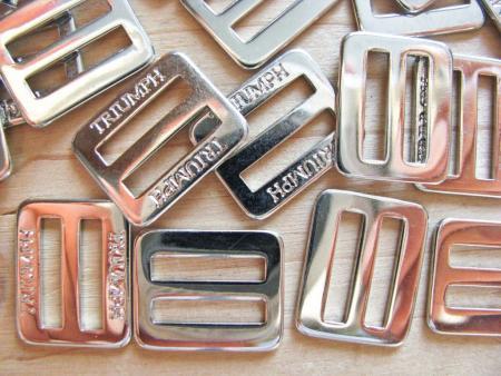 8 Schieber Metall in silber - 14mm