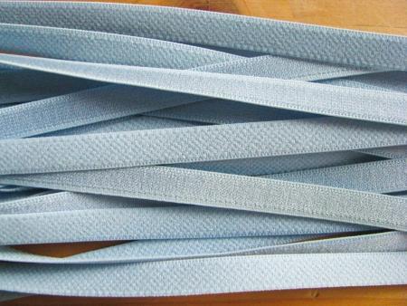 5m Satin-Träger-Gummi in hell-blau Fb0818 - 8mm