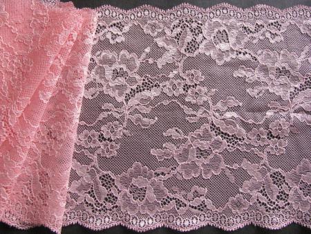 1m elastische Spitze in hellem flamingo Fb0103