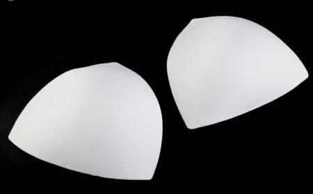 1 Paar BH-Körbchen/Schalen in rein-weiß - Gr.S