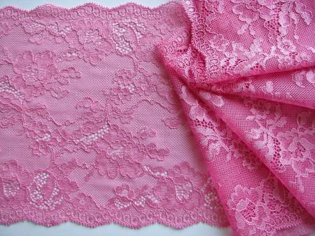 1m elastische Spitze in hellem pink Fb1423