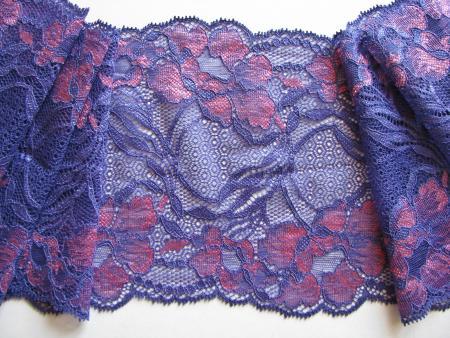 "1m elastische Spitze ""Lilac Flowers"""
