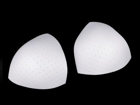 1 Paar BH-Körbchen/Schalen/Lochung in rein-weiß Fb2000 - Gr.M