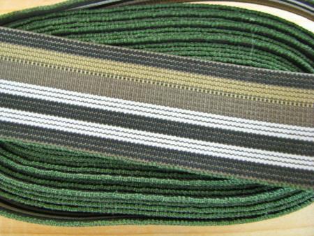 4m Bundgummi im Streifendesign in Olivtönen Fb0660...