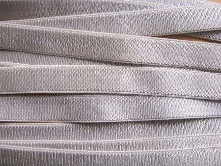 5m Satin-Träger-Gummi in silber-grau Fb3600 - 10mm