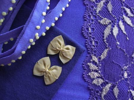 "1 Pkt. Materialpaket ""Violett Dreams"" - Slipset"