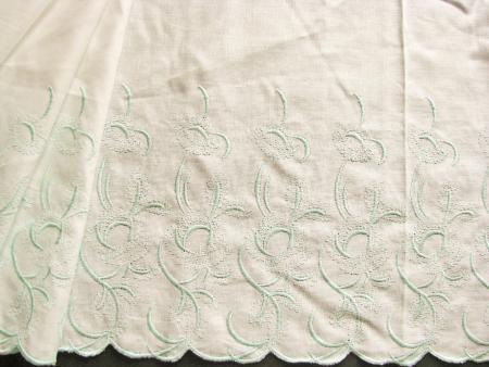 1m bestickte BW-Spitze in off-white Fb1000 und mint