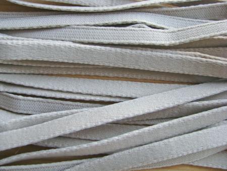 1m Bügelband in silber-grau Fb3501