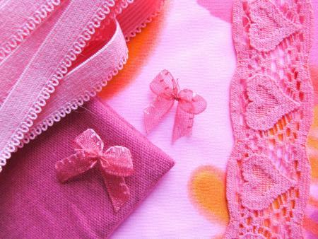 "1 Pkt. Materialpaket ""Lady in Pink"" - Slipset"