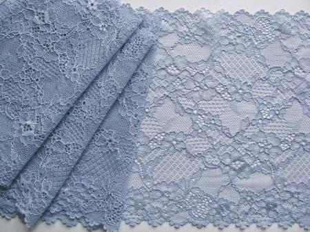 1m elastische Spitze in hellem avio-blau Fb1464