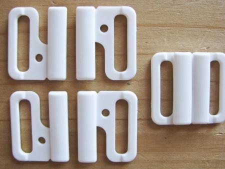 3 Paar Verschlüsse in rein-weiß Fb2000 - 18mm