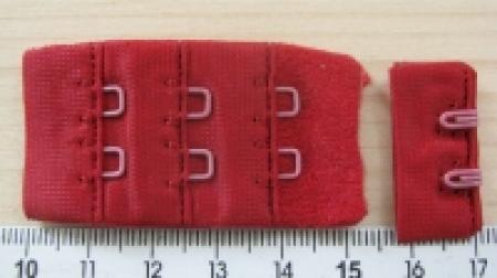 BH-Verschluss - dunkel kirsch-rot