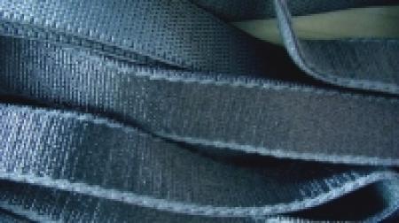 5m Satin-Träger-Gummi in stahl-blau