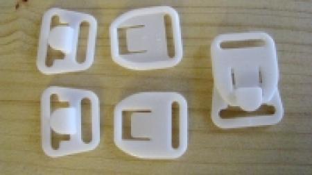 3 Paar Still-BH-Verschlüsse in weiß Fb2000