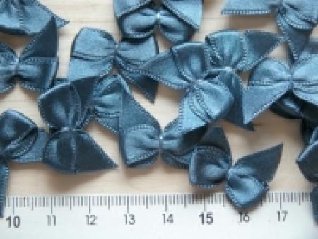 4 Schleifchen in stahl-blau