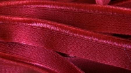 6m Paspelgummi in wein-rot Fb0918