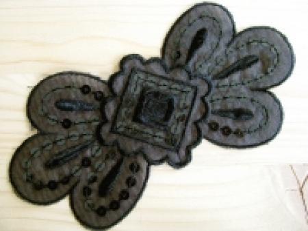 Spitzenapplikation in schwarz Fb4000 mit Pailletten