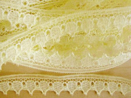 8m zarte Zierspitze in zitronen-gelb